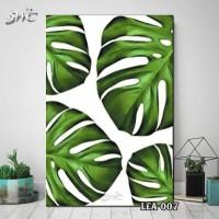 Hiasan Dinding Poster Kayu Quotes Flora Daun Home Decor Rumah LEA-007