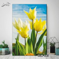 Hiasan Dinding Poster Kayu Quotes Flora Bunga Home Decor Rumah FLW045