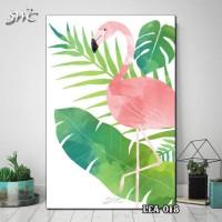 Hiasan Dinding Poster Kayu Quotes Flora Daun Home Decor Rumah LEA-018