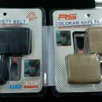 Colokan Safety belt 2 in 1 hitam mobil universal
