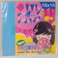 Kertas Lipat Origami 2 Sisi Double Face 16 x 16 25 Lembar