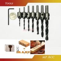 Mata Bor Kayu Alumunium Plastik Plat Drill Bit Countersink HSS 3mm 10m