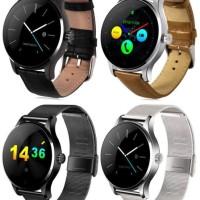 Smartwatch Lemfo K88H jam tangan android Smart Watch Kulit / Stainless - Hitam, stainless
