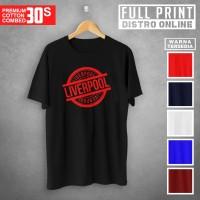 Liverpool Rubber Stamp Kaos Lengan Pendek Cotton Combed 30s