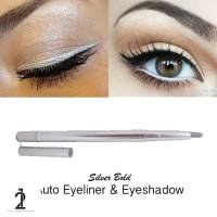 Silver eyeliner Glitter Eyeshadow dan Eyeliner 2 in 1 Pensil Warna
