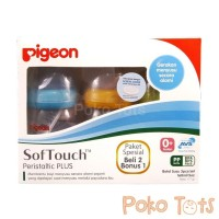 Botol Susu Pigeon Wide Neck Peristaltic PLUS 160ml Beli 2 Bonus 1