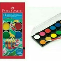 Cat air water colour paint cake Faber castell 12 warna