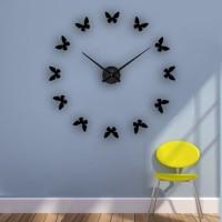 Jam Dinding 3D DIY Giant Wall Clock 120cm - Model Butterfly