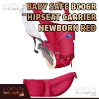 Baby Safe BC06R Red Baby Hip Seat Gendongan Bayi Multifungsi Merah