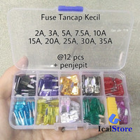 Fuse Blade Kecil 1 set 120 pcs dengan Box - Sekring Tancap Lengkap