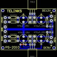 pcb simetris power suply ic 78xx 79xx Murah