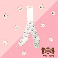 Baby Legging Rabbit White Petite Mimi