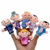 Mainan boneka jari tangan seri keluarga isi 6 pcs/ fingerhand puppet