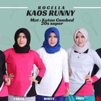 Rocella Kaos Runny Baju Olahraga Wanita Size XXL-XXXL