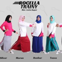 Rok Celana Olahraga + senam/rocella trainy muslimah Size S-XL
