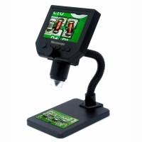 Mikroskop Digital Microscope 3.6MP 600X Monitor Fleksibel Stand G600
