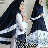 Promo Gamis Navy Vania Syarie/Gamis Cantik/Baju Muslim Wanita