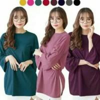 Promo Baju Kaos Big Size/Kaos Oversize/Kaos Casual Cewek Korea Style