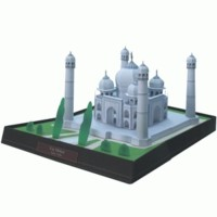 Diecast Miniature Taj Mahal Papercraft Original