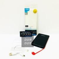 Promo Veger Power Bank 12000 Mah V50 Bentuk Slim Original Garansi