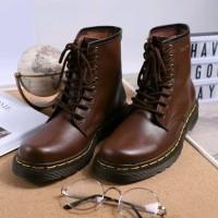 Best Ori Sepatu Boot Pria Wanita Couple Kulit Asli Boston Exodus Model