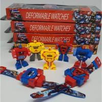 Jam Tangan Robot Transformer / Iron Man / Spiderman / Captain America