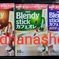 agf blendy stick choco, green, blue