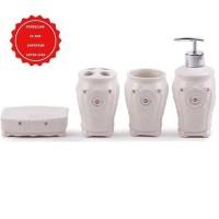Home Line Peralatan Kamar Mandi Keramik Set / 4 Pcs Bathroom Set
