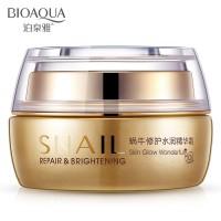50g BIOAQUA Natural Snail Essence Cream Facial Cream Moisturizer White