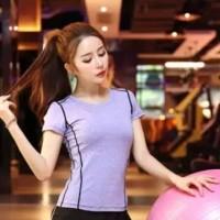 Baju Senam Kaos Sport Gym Yoga Olahraga Wanita 117