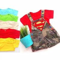 setelan overall anak superman