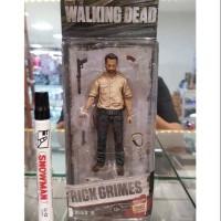 Mainan action figure Rick Grimes The walking dead Full artikulasi Tin