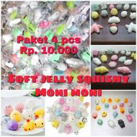 PROMO 4pcs Soft Squishy jelly silicone MONY MONY MONI - SOUVERNI ULTAH