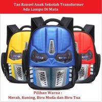 Fashion Anak Tas Ransel Anak Sekolah Muka Transformer Ada Lampu Kere