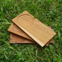 tatakan gelas kopi kayu / coffee tray / wood coaster