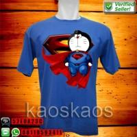 Kaos doraemon superman Ukuran S sd XL