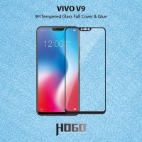 VIVO V9 Tempered Glass HOGO Full Cover Glue - Hitam