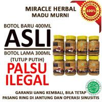 8 BOTOL MIRACLE HERBAL BY POWER MIX MADU PUTIH KEMASAN BARU 400ML