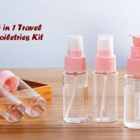 New 5 In 1 Travel Toiletries Kit ( 1 Set Isi 5 Pcs Botol) Berkualitas