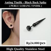 Anting Tindik Cowok Pria - Black Back Spike