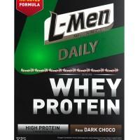 L-Men Daily Whey Protein Rasa Dark Choco 250gr Susu Lmen Coklat
