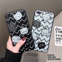 FOR OPPO F9, A3S, F7 YOUTH - ZIG ZAG CAT SOFT SILICONE CASE CASING