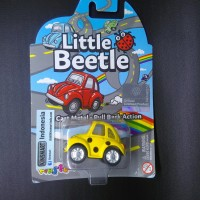 mainan anak diecast mobil vw little beetle kumbang kuning