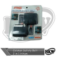 Colokan Safety Belt 2 in 1 Hitam Mobil Mobilio