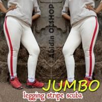 LEGGING STRIPE JUMBO - Nagita Pants - Side Stripe Pants - Bahan SCUBA
