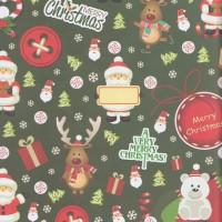 "Kertas kado Sansan Wawa SW-164 Christmas/Natal"""