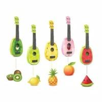 Ukulele Gitar Mainan Anak Gambar Buah-Buahan