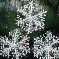 Hiasan Pohon Natal / Ornamen Salju Natal Isi 3 Ukuran 11 Cm