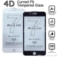 New Full Cover Curve Tempered Glass 3D 4D Iphone 7/7 Plus + /6/6S