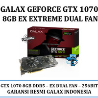 VGA GALAX nVidia Geforce GTX 1070 EX EXTREME 8GB DDR5 - Dual Fan